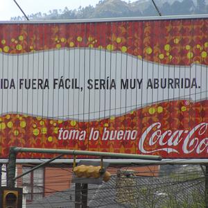 Werbung in La Paz