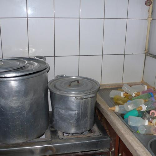 Hier wird die Milch für die Babys gemacht