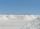 Salzgewinnung am Salar de Uyuni
