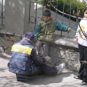 Schuhputzer in La Paz