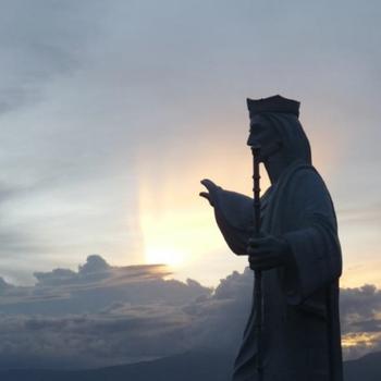 Jesusstatue in der Aldea